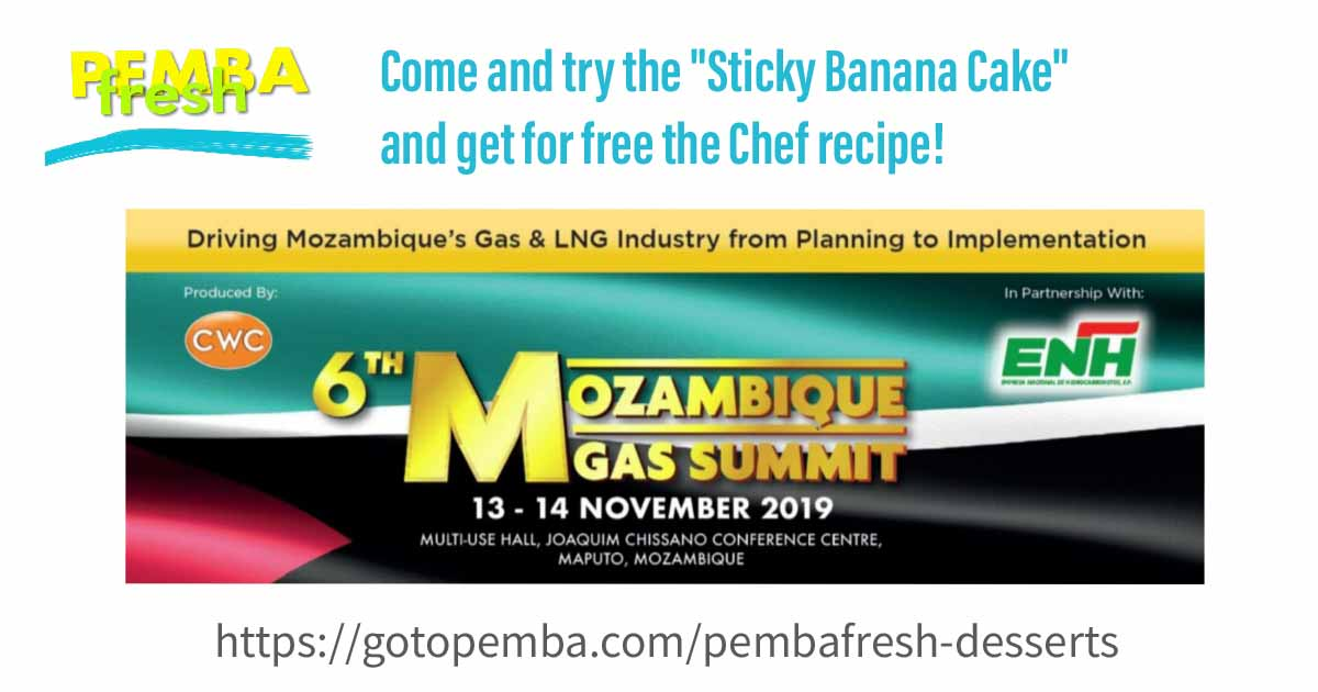 PEMBA FRESH @ 6TH GAS SUMMIT - MOZ- by DESIGN GRÁFICO - 2019 GOTOPEMBA