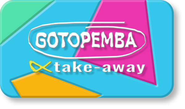 TAKE-AWAY GOTOPEMBA - by DESIGN GRÁFICO - ©2019 GOTOPEMBA - R&D